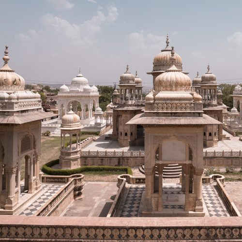 Unique buildings of Gaitore Ki Chhatriyan in Jaipur