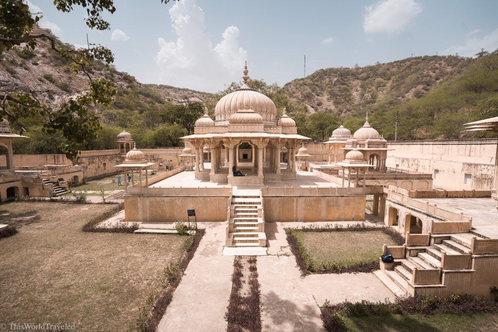 A unique, large white structure in Jaipur, India