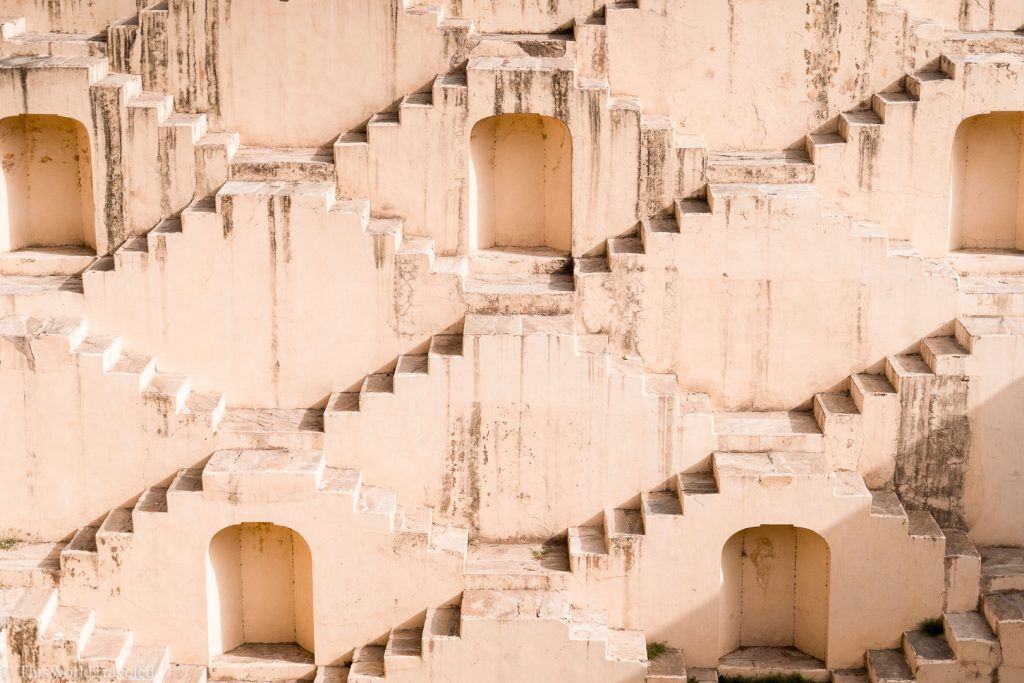 One of India's ancient step wells in Jaipur