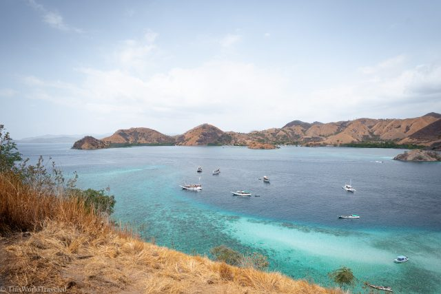View of Komodo Islands National Park from the top Kelor Island