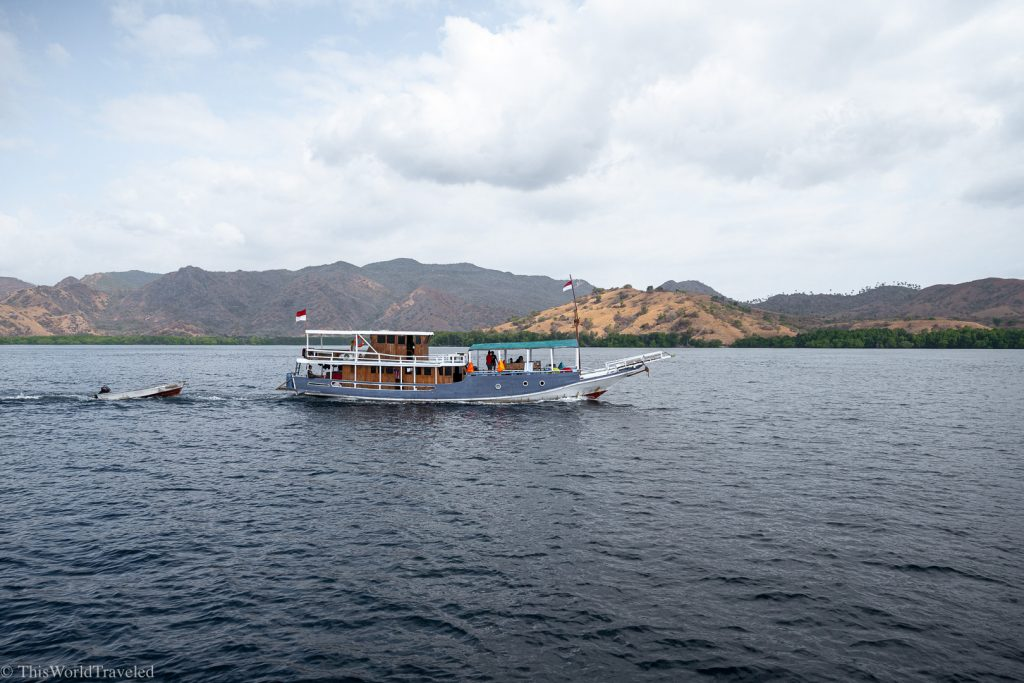 The sail boats that you stay on in the Komodo Islands