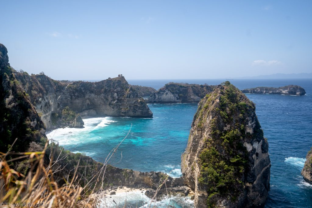 The Thousand Islands viewpoint on Nusa Penida's East Coast