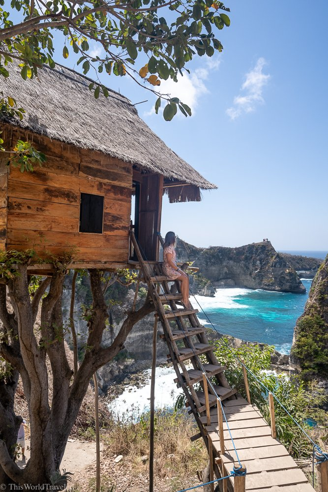 A tree house on Nusa Penida's east coast