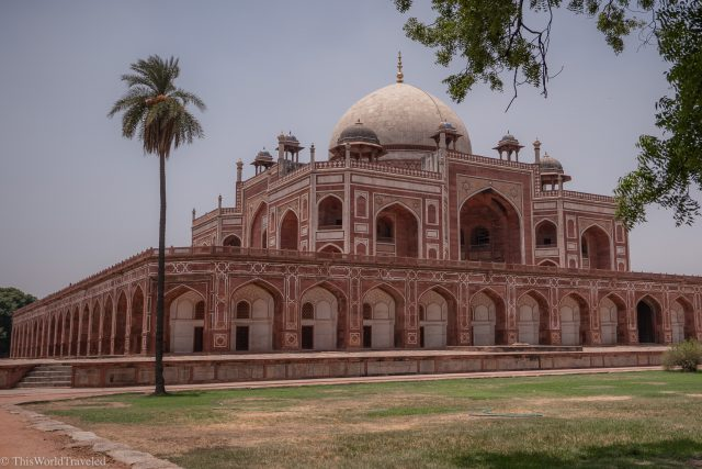 View of Humayan's Tomb in Delhi, India