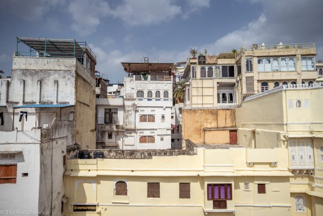view of the buildings of Udaipur in India