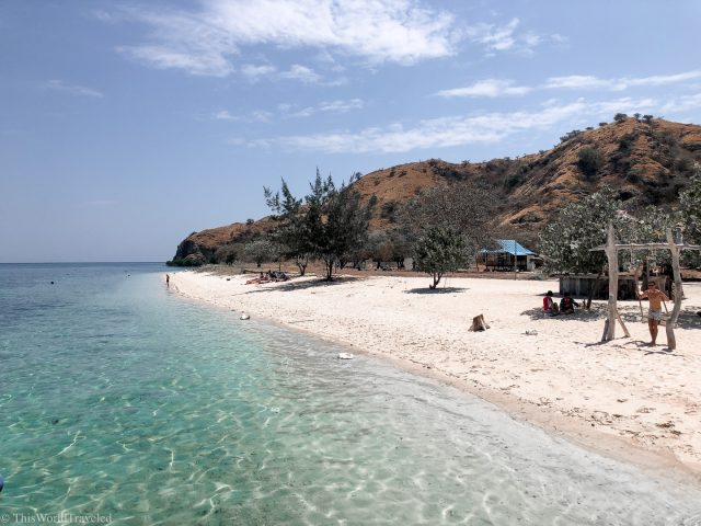 Kanawa island in the Komodo Islands