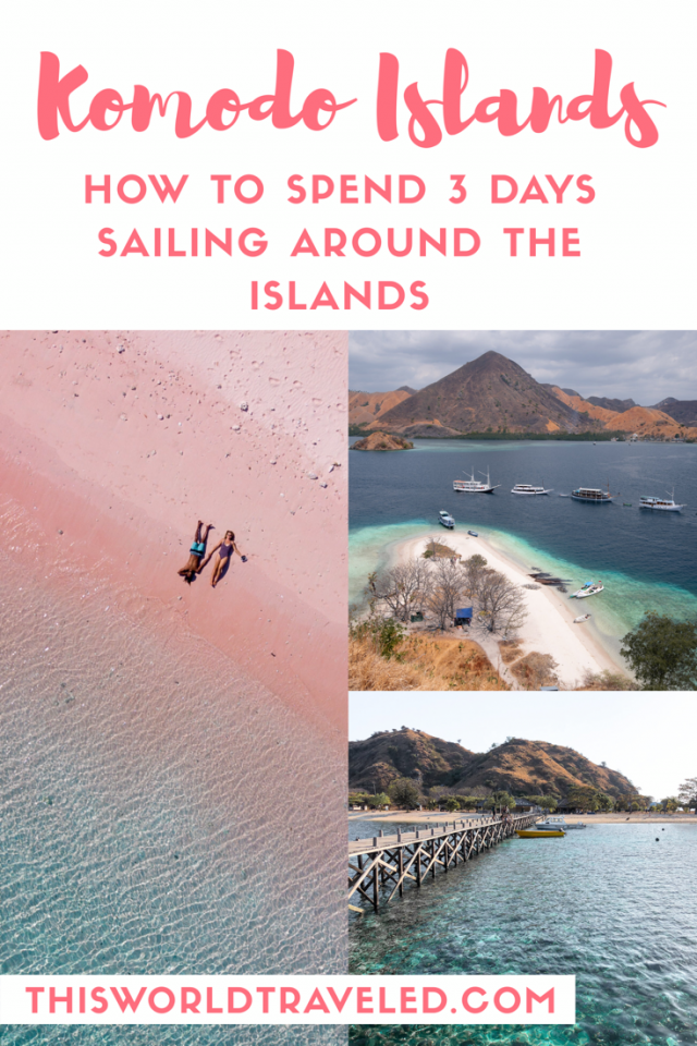 A pink beach, Kelor Island and Kanawa Island in Indonesia