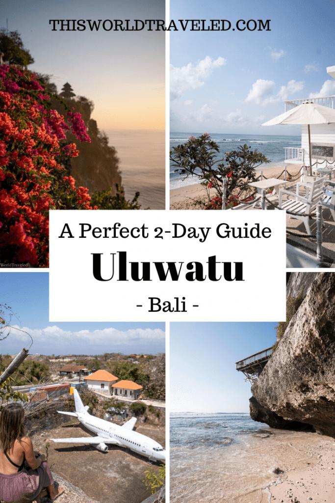 Four photos of Uluwatu in Bali