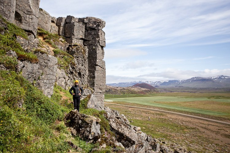 Basalt columns that you can see on the Snæfellsnes Peninsula in Iceland
