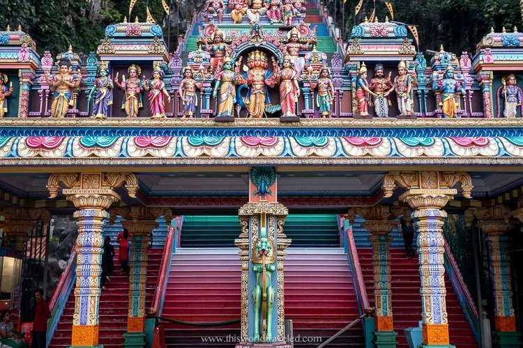 Entrance to the Batu Caves temple in Malaysia