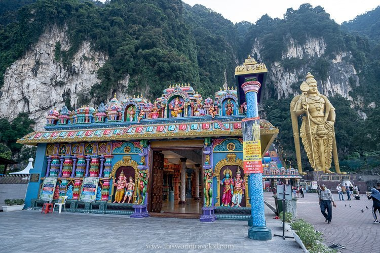 At the main entrance to the Batu Caves you can see the large Lord Murugan statues