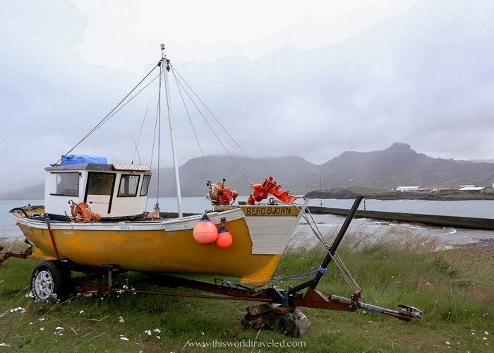 There are many fishing boats in Borgarfjörður eystri that you can see in the small village in Iceland
