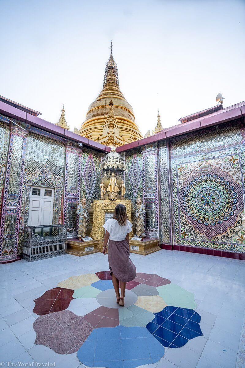 Mandalay Hill is a beautiful spot for sunset! You can get there by taking an escalator to the top or hiking up!