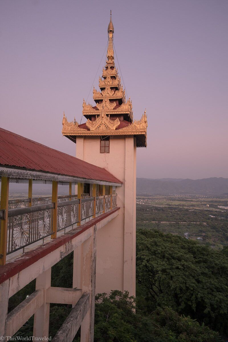 Views from the top of Mandalay Hill in Myanmar. It is best to visit at sunset.