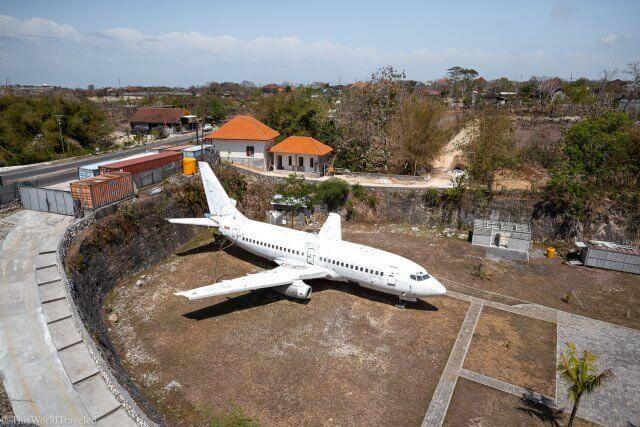 The abandoned aircraft that is near Uluwatu, Bali