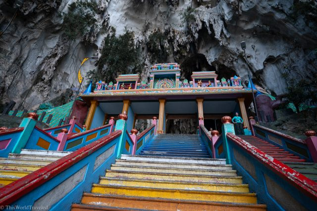 The colorful steps of the Batu Caves in KL