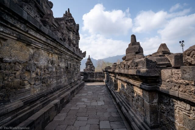 Part of the Borobudur Temple Complex in Central Java, Indonesia
