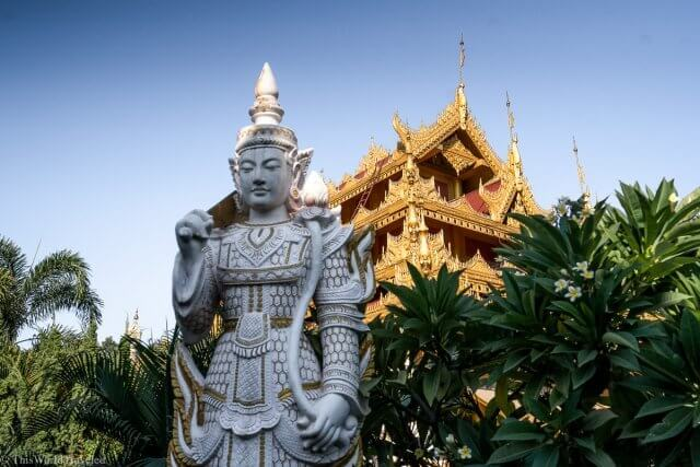 Kyauktawgyi Pagoda is located in the center of Mandalay in Myanmar