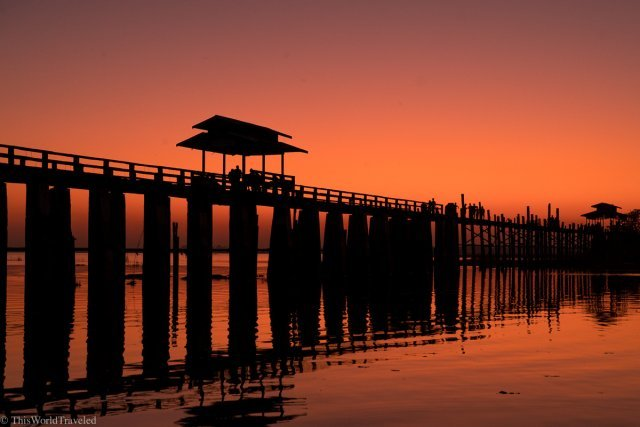 Located about 30 minutes outside of Mandalay on the Taungthaman Lake is the famous U-Bein bridge.
