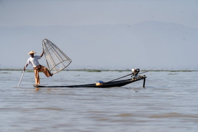Local fisherman on Inle Lake in Myanmar