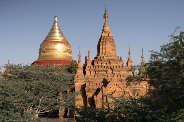 The temples in Bagan in Myanmar