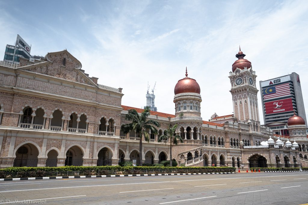 Sultan Abdul Samad building with red domes in KL