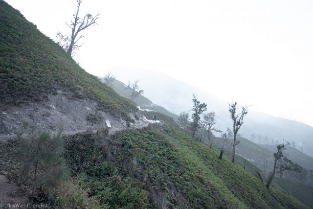 The path to get to the Crater Lake in Ijen