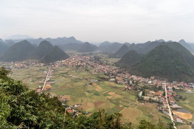 The small village in the Bac Son Valley in Vietnam