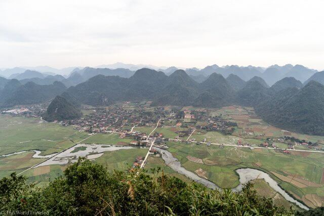 Views of the Bac Son Valley from the viewpoint in Vietnam