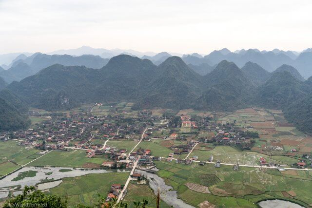 Views of the rice terraces and rivers at Bac Son Valley in Vietnam