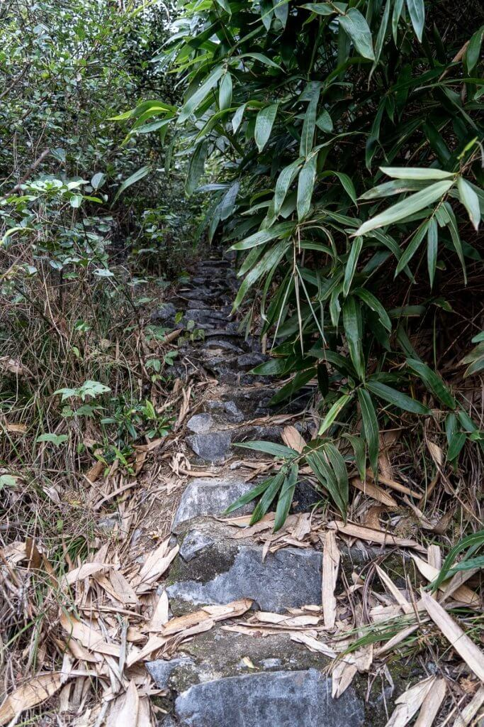 Part of the hiking path up to the viewpoint at the Bac Son Valley in Vietnam