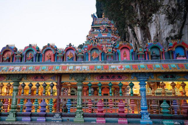 The colorful design of the Batu Caves in Kuala Lumpur, Malaysia