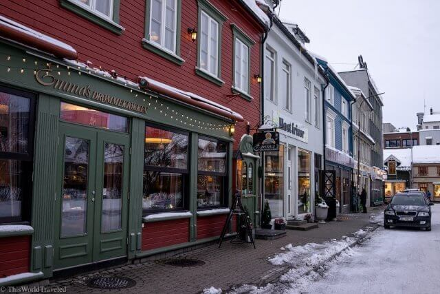 The center of town in Tromsø, Norway