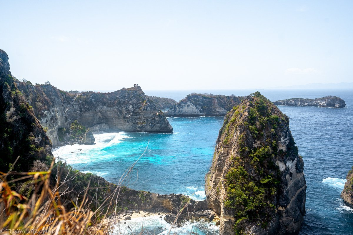 View of Diamond Beach Nusa Penida from the treehouse