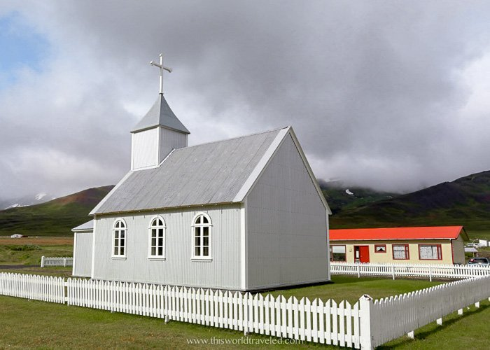 A small church in Borgarfjörður eystri in East Iceland