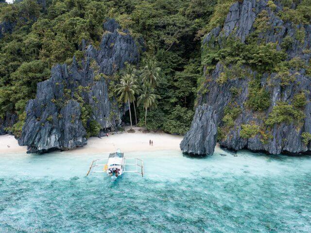 Entalula Island on Tour B of an island hopping tour in El Nido Palawan
