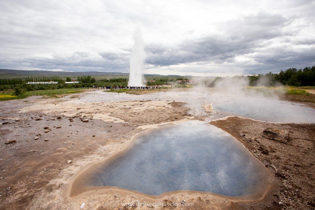 Strokkur Geysir in Iceland's Golden Circle