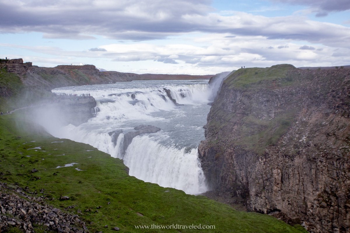 Gullfoss waterfall on the Golden Circle Route Iceland
