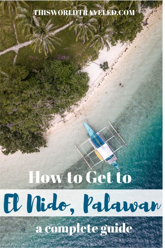 How to get to El Nido, Palawan pinterest board cover