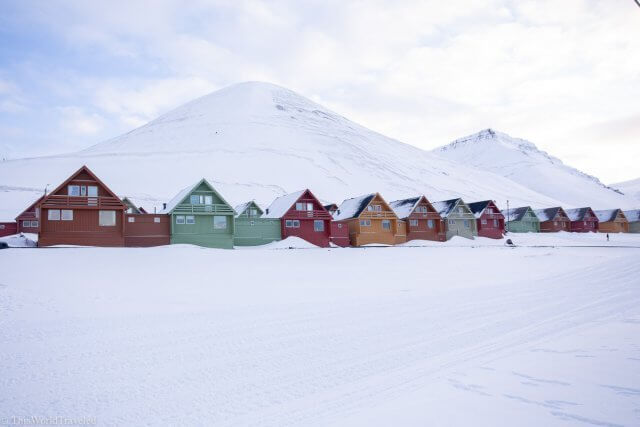 The small town of Longyearbyen in Svalbard