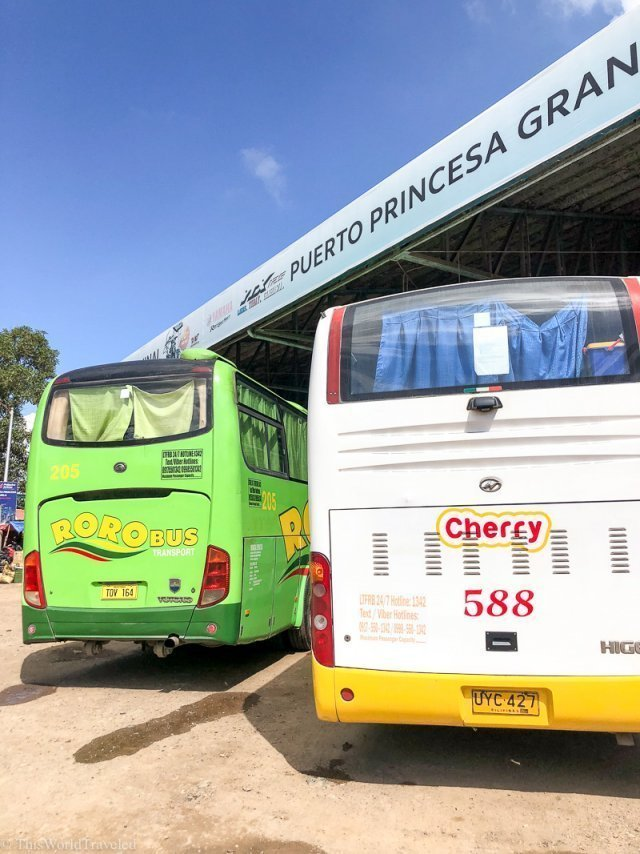 The Cherry and RoRo bus at the Puerto Princesa Bus Terminal in Palawan