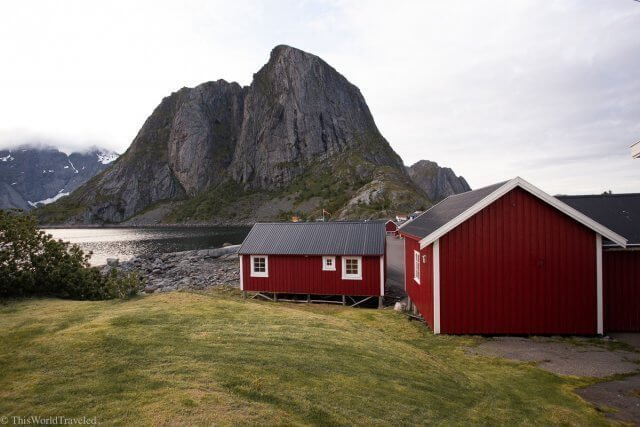 The red fisherman huts of the Lofoten Islands in Northern Norway