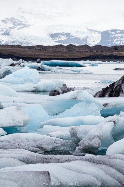 The Jökulsárlón glacier lagoon in Iceland