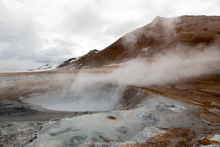Hverir in the north of Iceland. You can visit on a camper van trip around the island