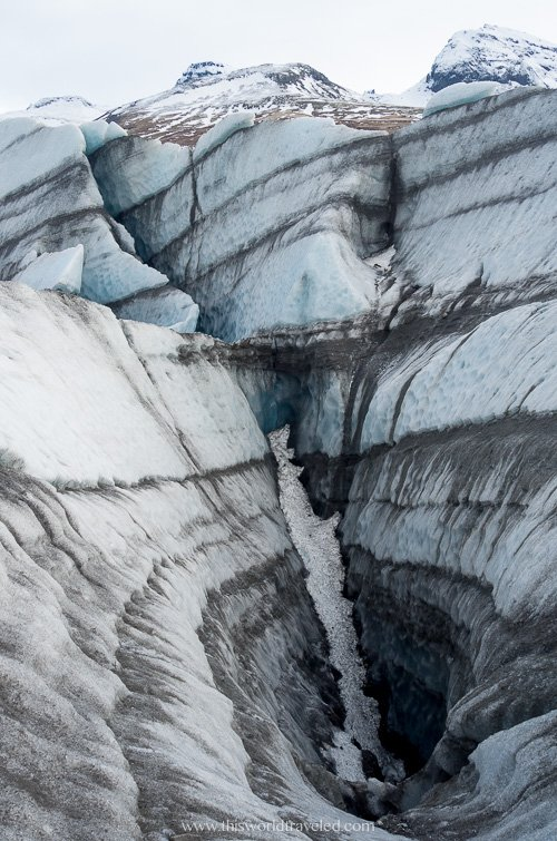 A large glacier in Iceland