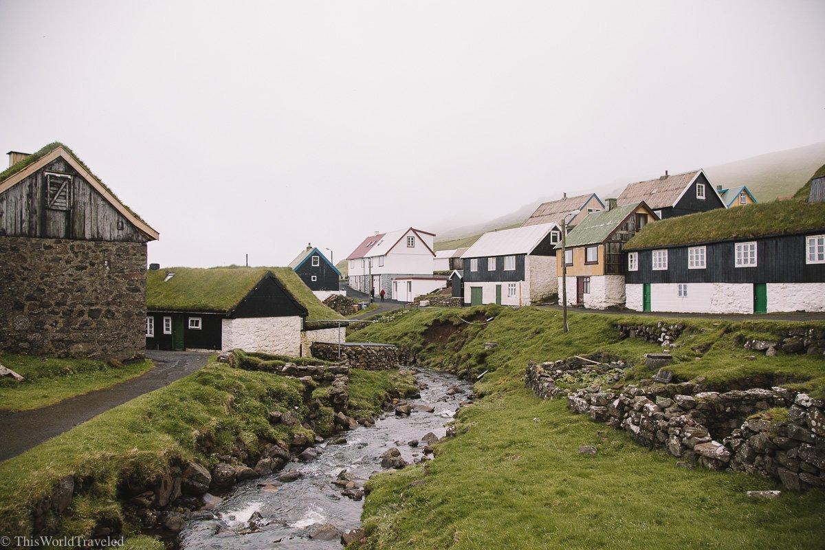 Mykines village in the Faroe Islands