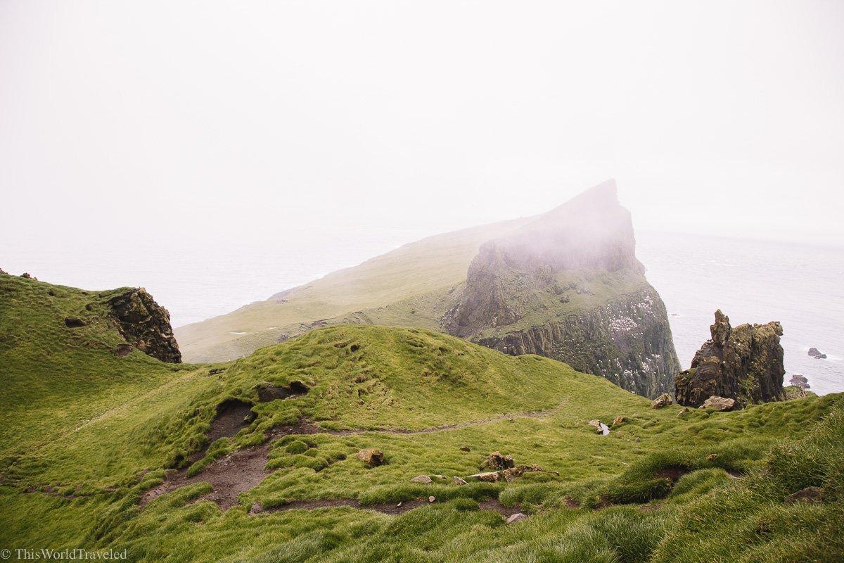 Breathtaking cliff views of Mykines
