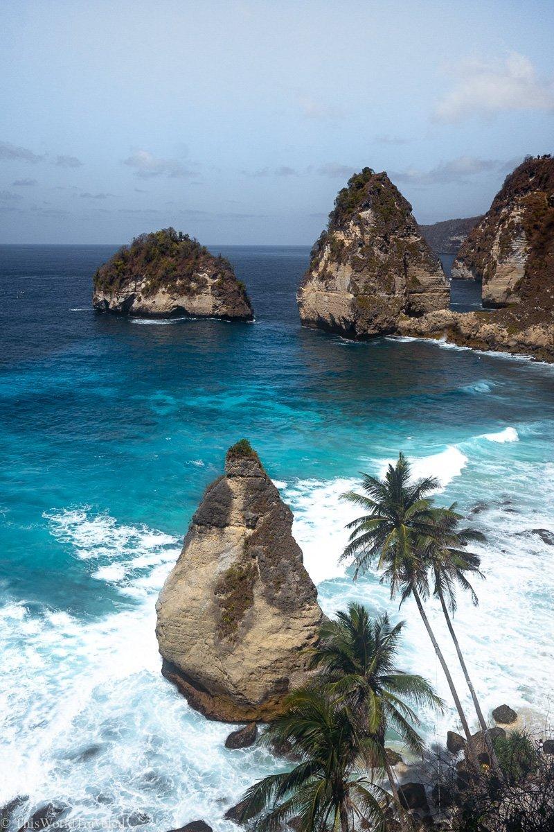 Incredible viewpoint of Diamond Beach Bali