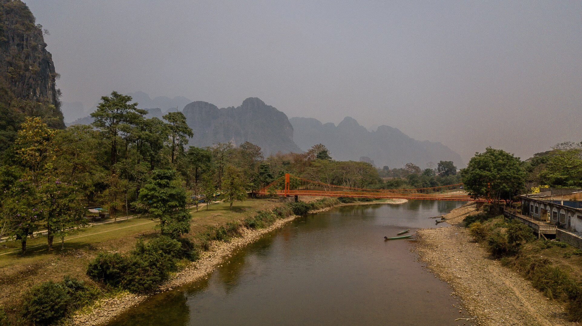 View of Vang Vieng in Laos
