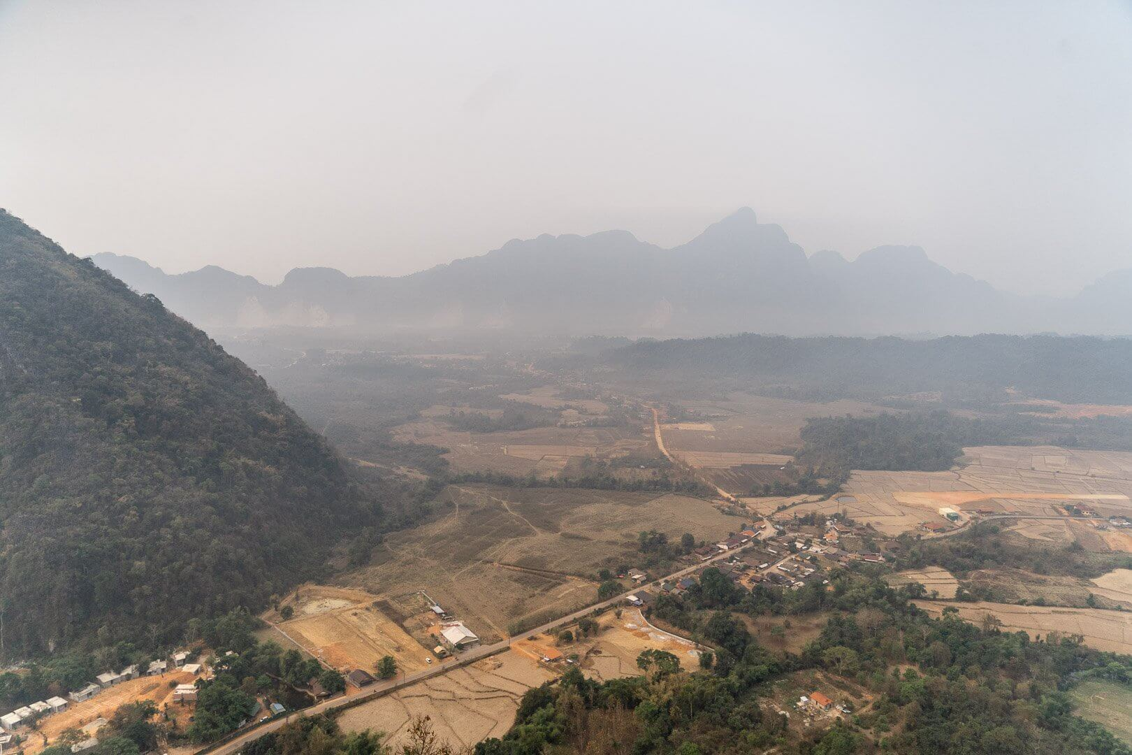 Pha Ngern mountain viewpoint in Vang Vieng, Laos